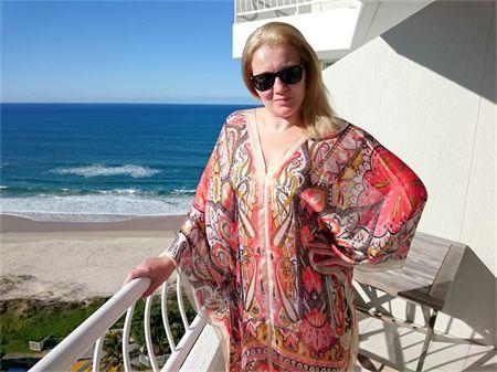 Plus Size Silk Kaftan Beach Cover Up Poncho Stylish Resort Wear  Paisley Print