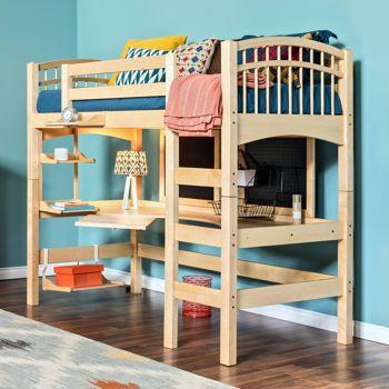 McKenzie Natural Study Loft Twin Bed