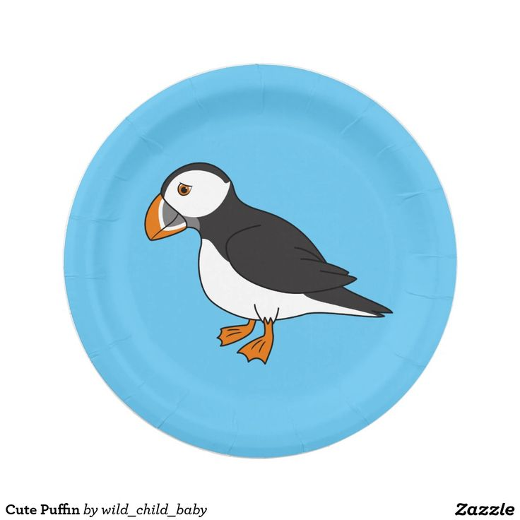 Cute Puffin Paper Plate  sc 1 st  Pinterest & 1002 best CUSTOM PAPER PLATES Personalized For Parties images on ...