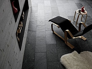 Combining slate flloring and wall