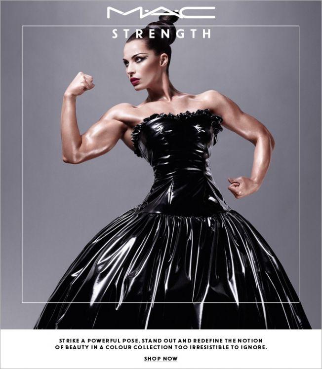 Makeup Ads 2013   MAC Puts Female Bodybuilder in a Cosmetics Ad Jelena Abbou strikes 'a ...