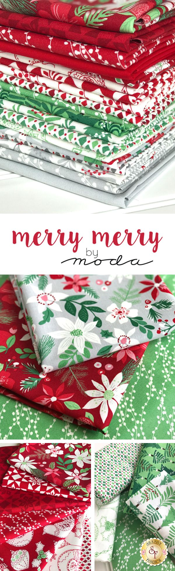 Merry Merry is a delightful holiday collection by Kate Spain for Moda Fabrics available at Shabby Fabrics!
