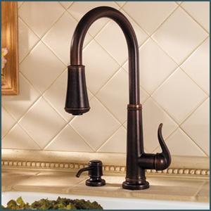 Ordinaire Rustic Bronze Ashfield Pull Down Kitchen Faucet