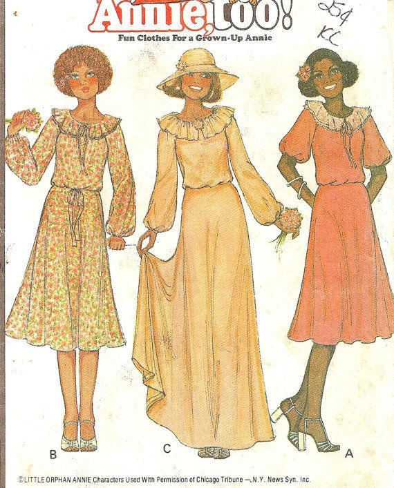 1970's dress- This is the pattern for the dresses we wore to our Mother's wedding (1978).