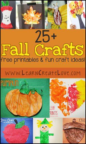 25+ Fun Fall Crafts! Printable crafts and regular! | LearnCreateLove.com