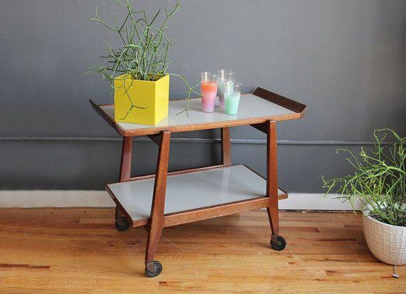 Teak Danish Modern Bar Cart