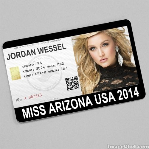 Jordan Wessel Miss Arizona USA 2014 card