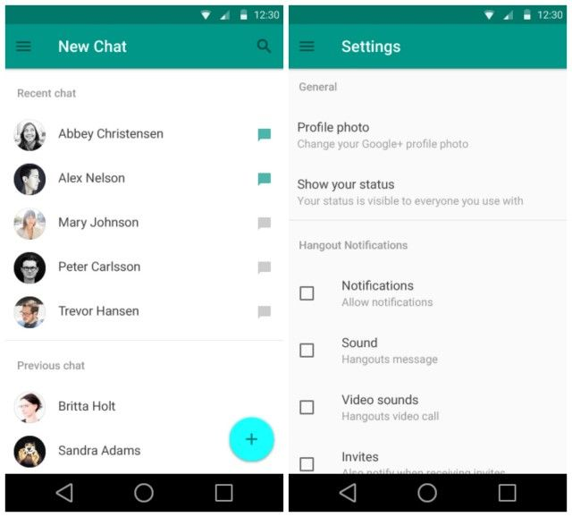Now Hangouts looks so drastically different from our current version, we're not entirely sure how accurate this new look is. Whether a generic mockup or a sneak peek, it's clear Google is focusing on a much more minimal, simple user experience.