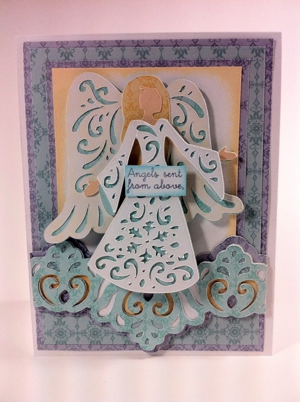Courtney Lane Designs Angel card made using the A Quilted