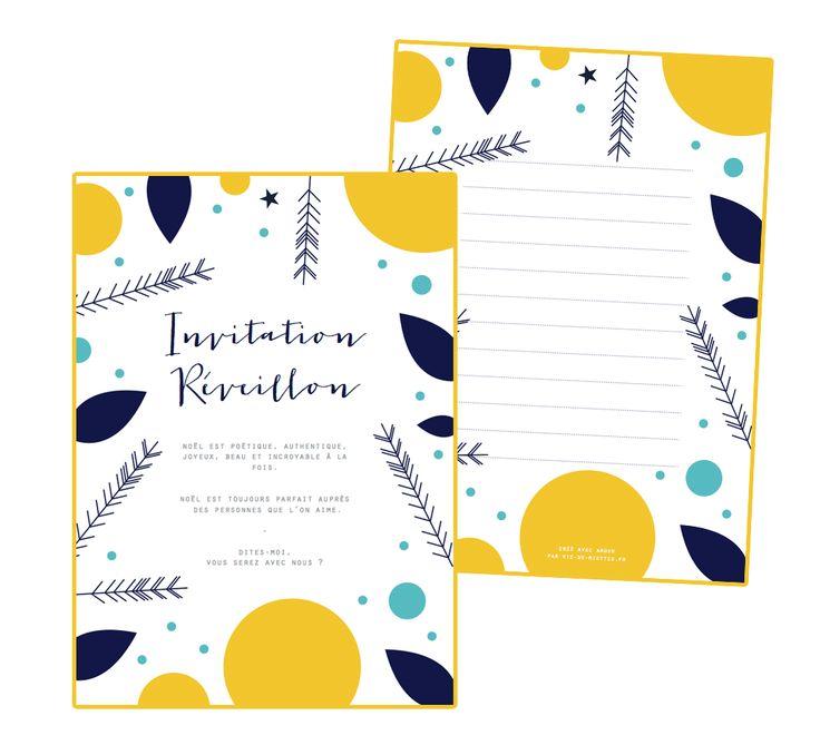 Invitations De Noel A Imprimer Vie De Miettes Calendrier De L