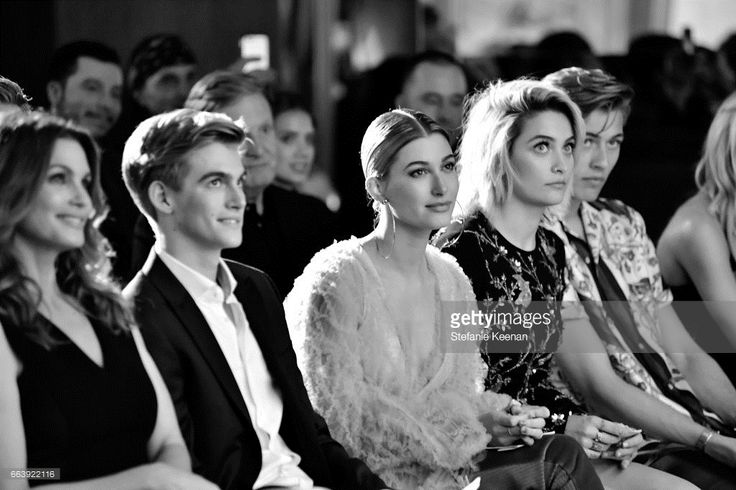 (L-R) Cindy Crawford, Presley Gerber, Hailey Baldwin, Paris Jackson (age 18) and Lucky Blue Smith attend the Daily Front Row's 3rd Annual Fashion Los Angeles Awards at Sunset Tower Hotel on April 2, 2017 in West Hollywood, California.