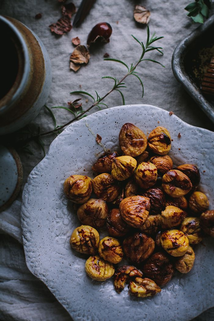 Roast Chestnuts by Eva Kosmas Flores | Adventures in Cooking