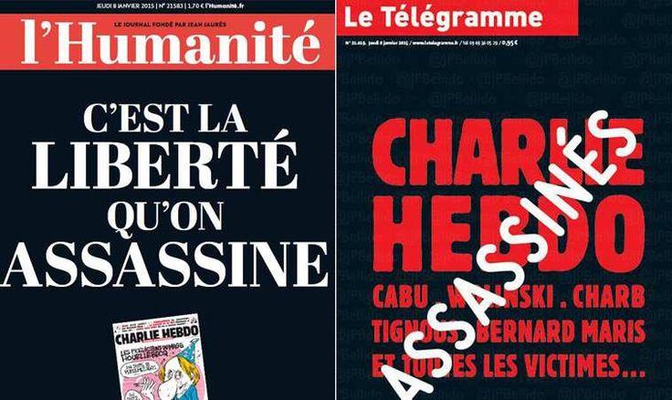 Les journaux français reviennent tous dans leur édition de jeudi sur l'attentat perpétré mercredi à Charlie Hebdo. Et défendent unanimement...
