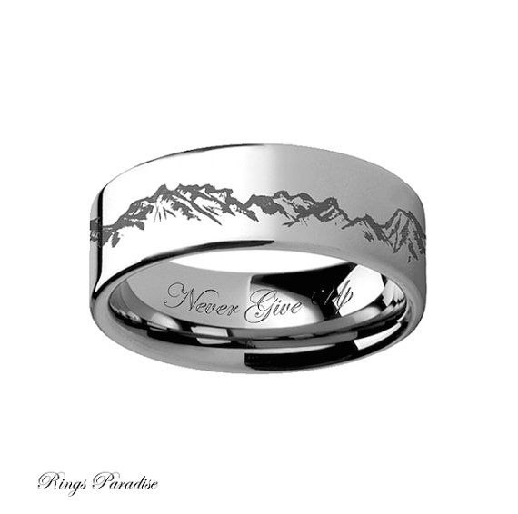 Men's Wedding Bands Mens Ring Tungsten Wedding by RingsParadise