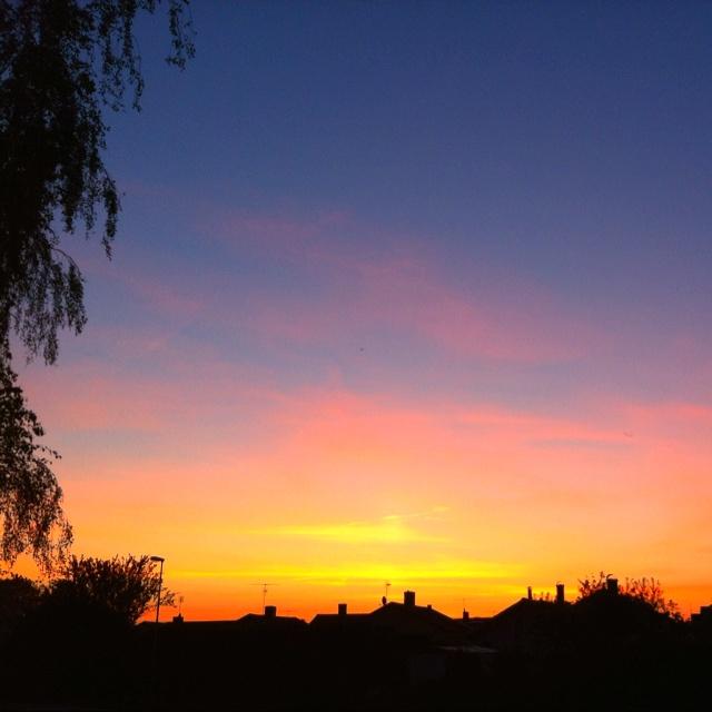 May sunset in Örebro Sweden