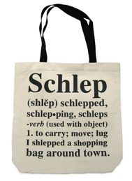 "The ""Schlep"" tote (cotton blend with velcro seal) is great for all things…"