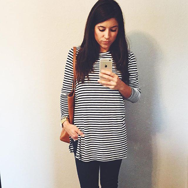 Hello September. Hello stripes.  #dallasblogger #fashion #oldnavystyle by thatrunninggirlblog