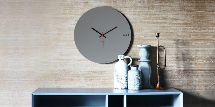 Ρολόγια τοίχου μεγάλα. wall clock big. tre grey 95€ | xline ρολογια τοιχου