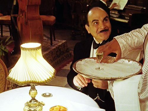 Image detail for -... 20th century agatha christie david suchet poirot dining hercule poirot