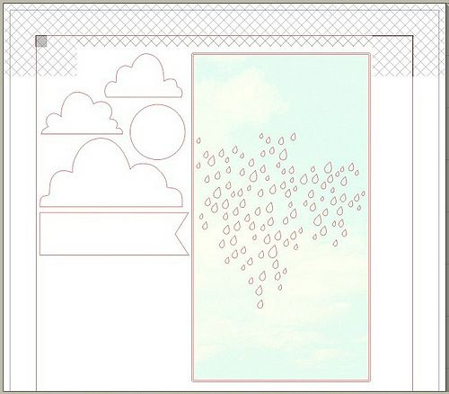 rainy sky & clouds - free Silhouette cut file