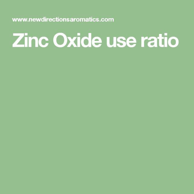 Zinc Oxide use ratio