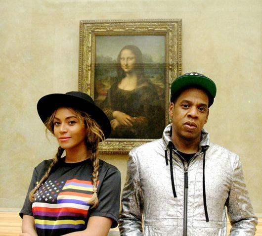 Jay Z, Beyoncé, Blue Ivy, Louvre, Mona Lisa, Paris.
