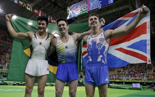 """boyzoo: """" Arthur Mariano, Diego Hypólito, Max Whitlock at Rio Olympics 2016 """""""