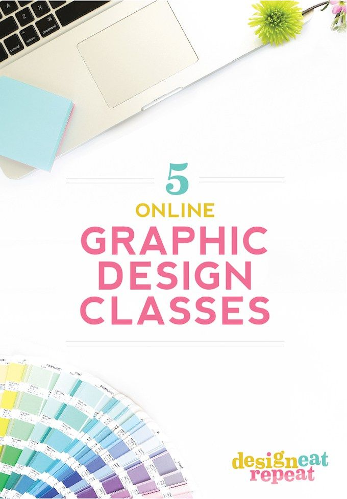 A Roundup Of 5 Online Graphic Design Classes You Can Take From Home.  Includes Suggestions For Seasoned Designers, As Well As Beginners!