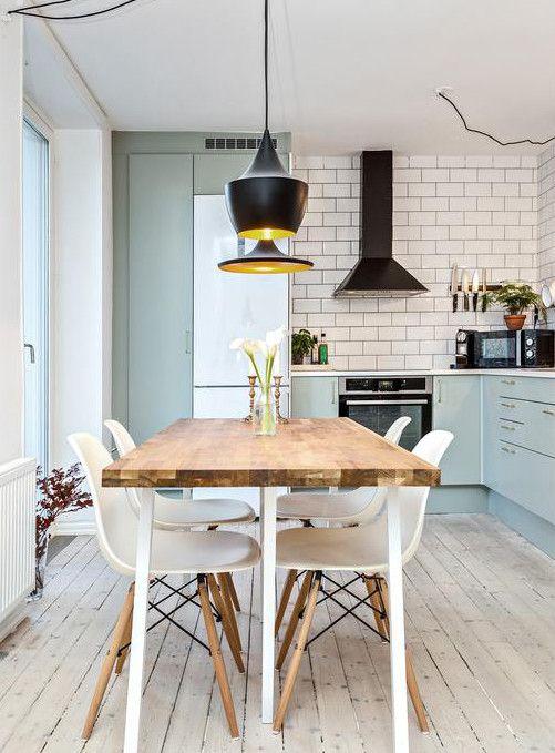 Keuken Ideeen L Vorm : Keukens op Pinterest – Lichtgele Keukens, Blauwe Keukenkastjes en Aqua