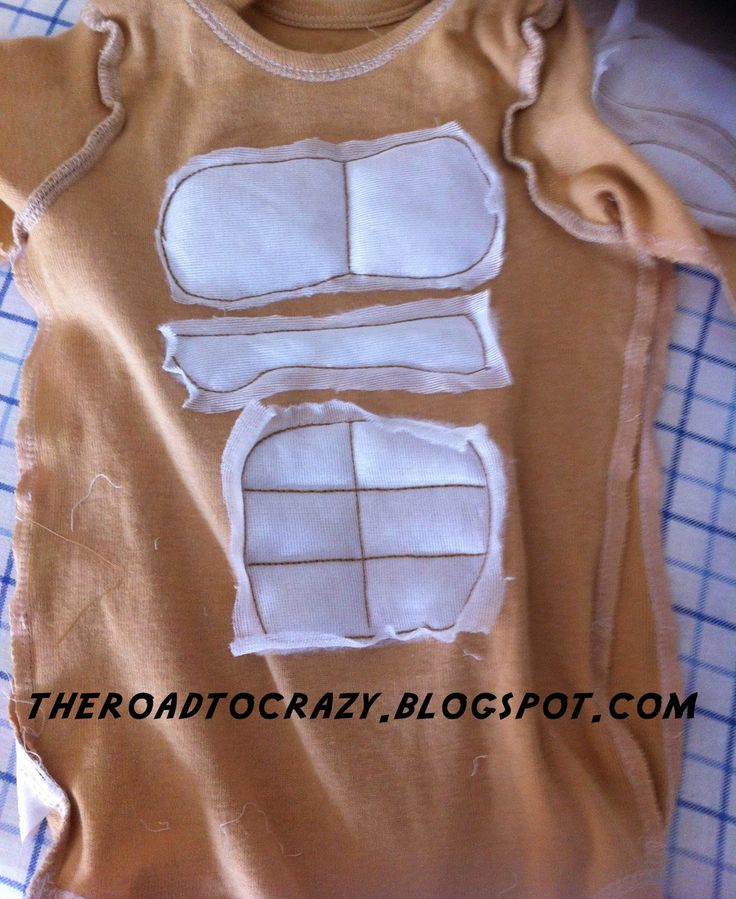 DIY Infant Muscle Man Onesie   Strongman costume