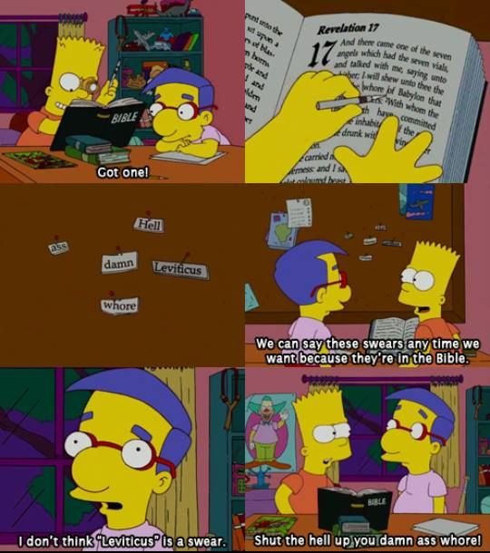 The Simpsons   Bible Swears