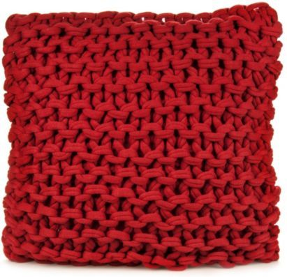 Cosy up on the sofa with this chunky knit cushion in stunning red! #BalticSummer #Comfort