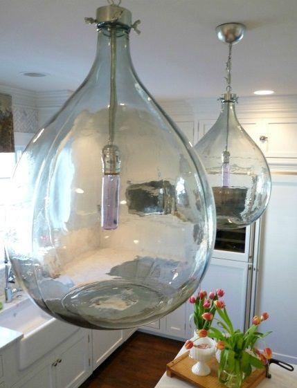 Damigiane in vetro decorate - Fotogallery Donnaclick