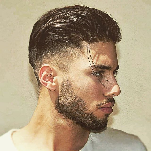 High Taper Fade With Long Slicked Back Hair Short Hairstyles For Men Undercut Long Hair Long Slicked Back Hair Hipster Hairstyles