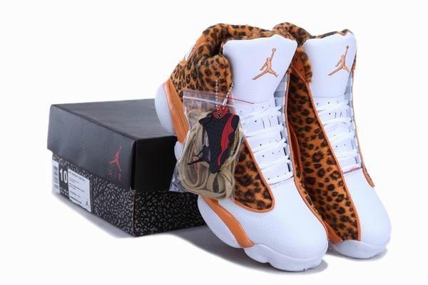 Cheetah Print Air Jordan 13 Leopard Orange White New Jordans Shoes 2013      #Orange  #Womens #Sneakers