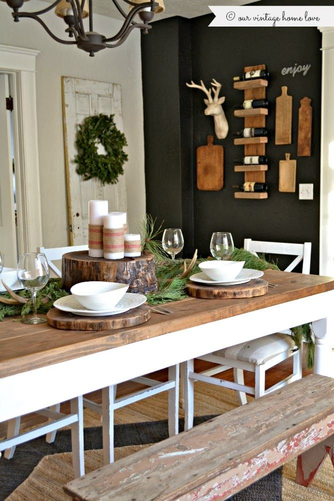 Exceptional A Dark Wall Adds Depth To Dining Room With Timber Nearby