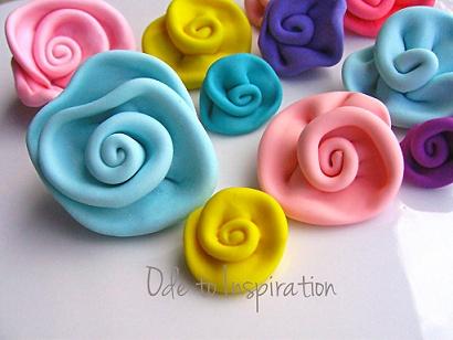 how to make fondant ribbon rosettes
