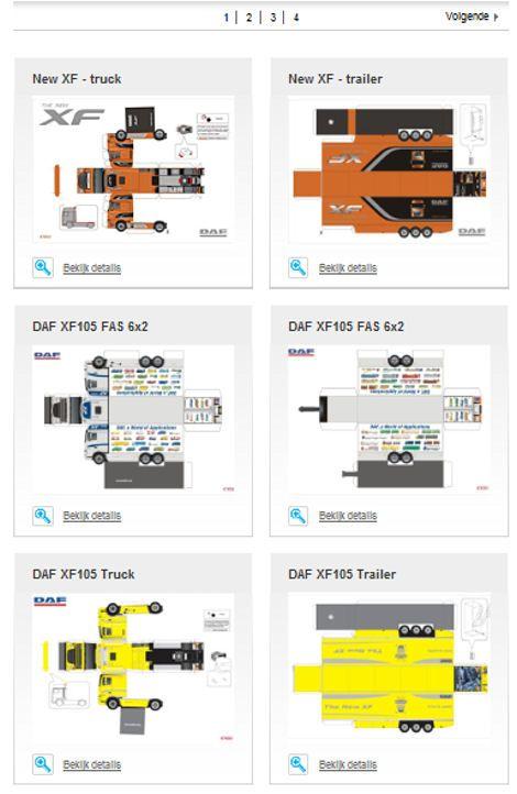 paper model trailers | Pin Bouwplaat Papercraft Paper Model Truck Trailer Car Pictures Car ...