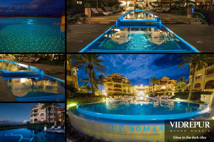 Check out vidrepur 39 s glow in the dark pool tiles - Glow in the dark swimming pool toys ...