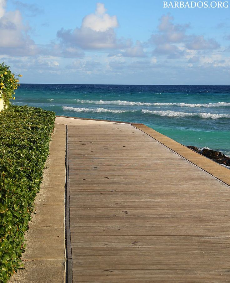 Strolling the south coast boardwalk in Barbados