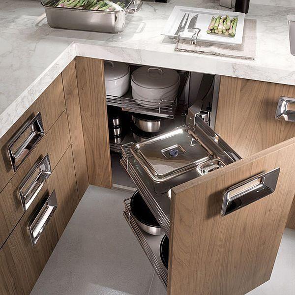Kitchen furniture walnut- comfortable drawer