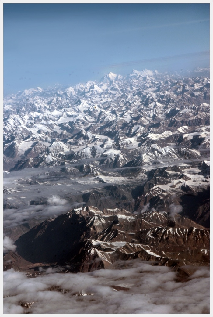 On plane , View from Leh , Ladakh , India