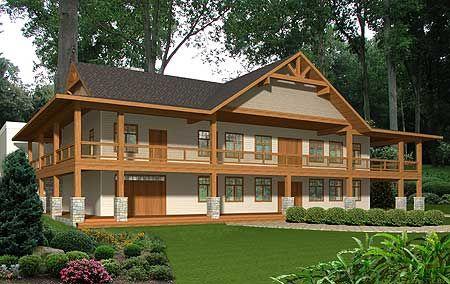 Log Cabin 2 Story Dream Home Pinterest
