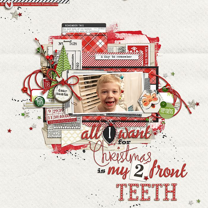 All I Want For Christmas Is My Two Front Teeth Christmas Scrapbooking At Designerdigitals Christmas Scrapbook Scrapbook Crafts Christmas Layouts