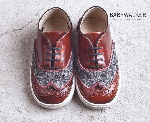 Leather/Whoole oxford by BABYWALKER FW2015/16