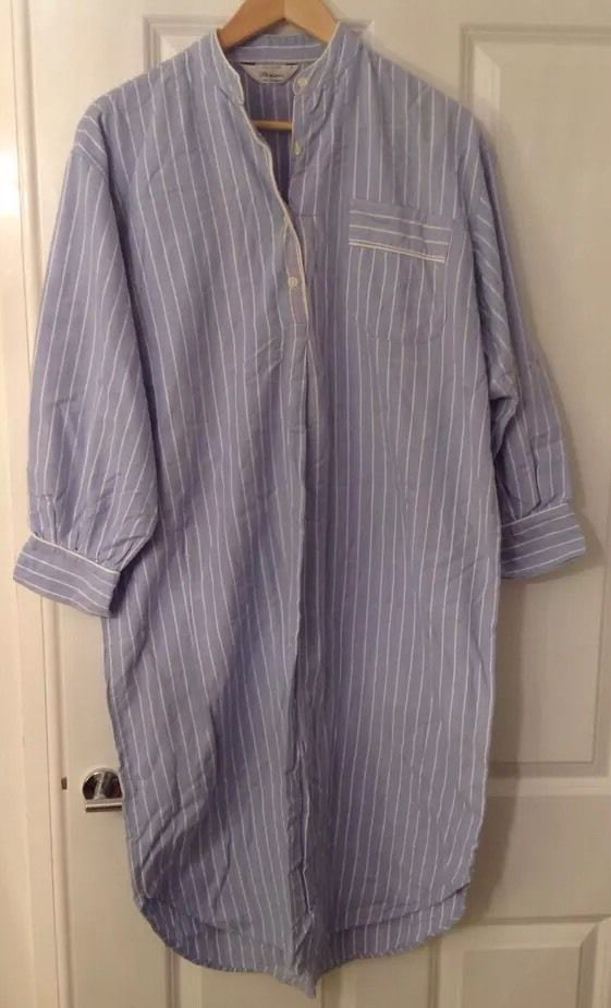 """Vintage Mens Grandad Collar Shirt Smock French Nightshirt Blue Striped Size 46"""" FOR SALE • £19.99 • See Photos! Money Back Guarantee. TRADITIONAL VINTAGE MENS FRENCH SHIRT / SMOCK /NIGHTSHIRT FROM FRANCE MADE IN ENGLAND BY BONSOIR Grandad collar Beautifully made lined at front button area Blue and white striped made of 371773503365"""