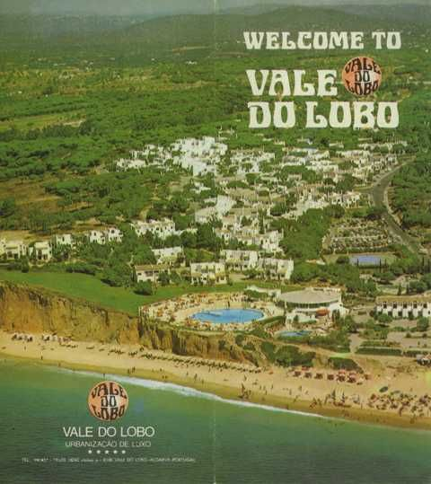 Vale do Lobo advertising poster 1980, Turismo do Algarve: Vale do Lobo