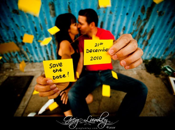 Engagement Shoot by Greg Lumley Save the Date Idea