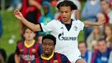 Wilfrid Kaptoum (FC Barcelona) & Leroy Sané (FC Schalke 04)