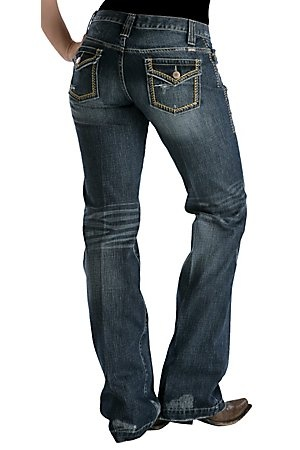 Cruel Girl Ladies Flap Pocket Utility Relaxed Fit Jean- Long Length